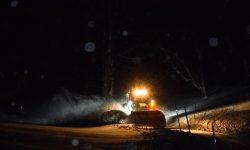 Schneeräumung Nacht