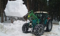 Schnee Abtransport